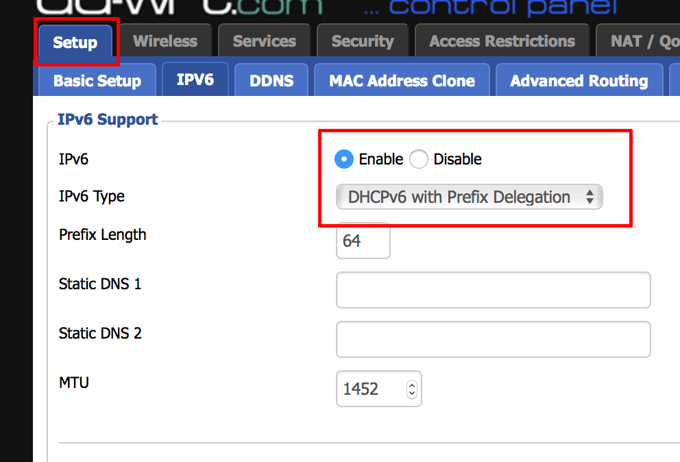 DDWRT-IPv6