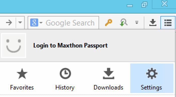 Maxthon-Settings