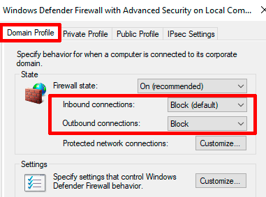 Windows-Firewall-Domain-Profile