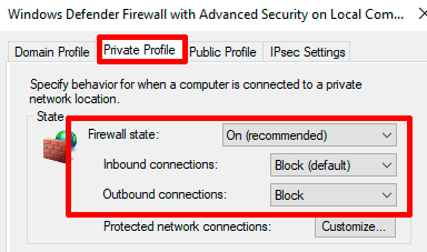 Windows-Firewall-Private-Profile-Settings