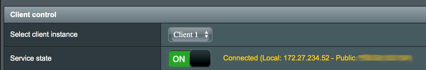 asus router openvpn client control