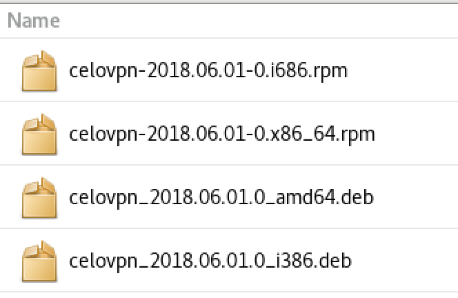 celo openvpn linux installers