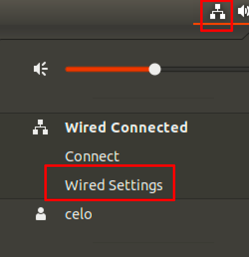 gnome wired settings