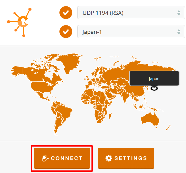 openvpn celo app server location port connect