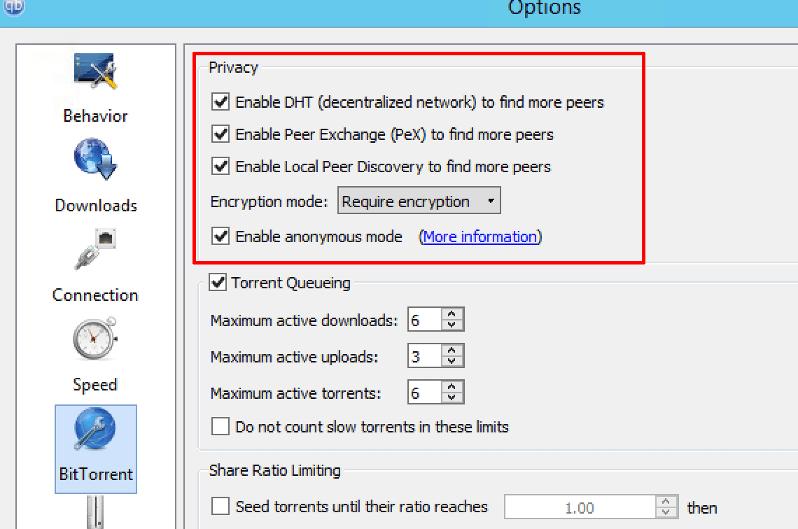 Qbittorrent vpn settings