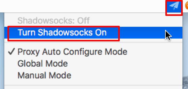 shadowsocks macos turn on