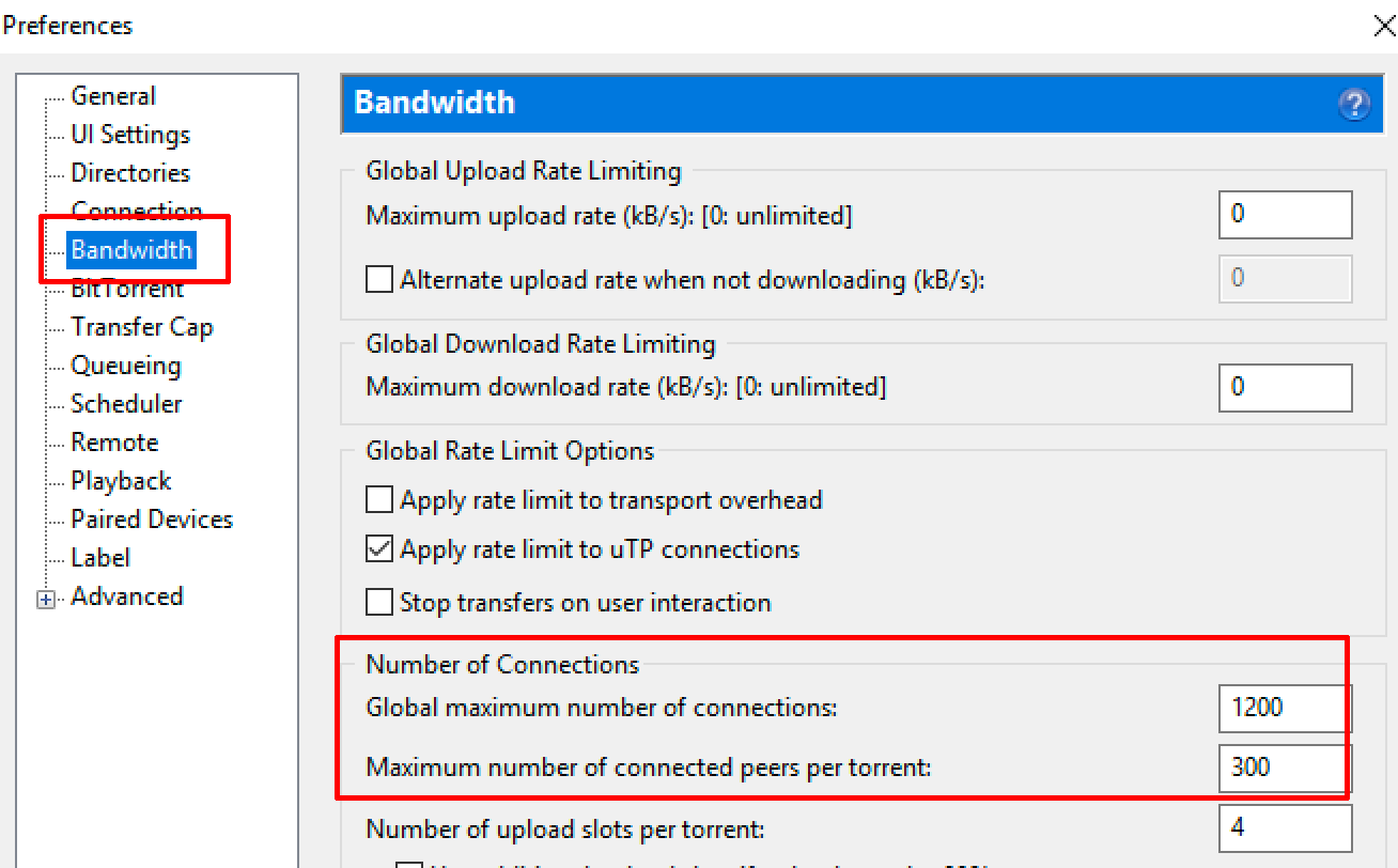 uTorrent-Bandwidth-Settings