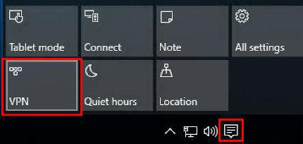 windows 10 vpn button