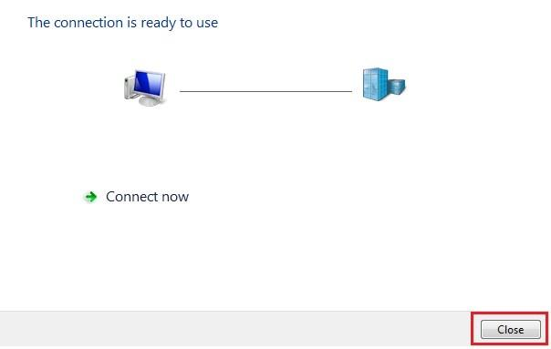windows 7 connection ready to use