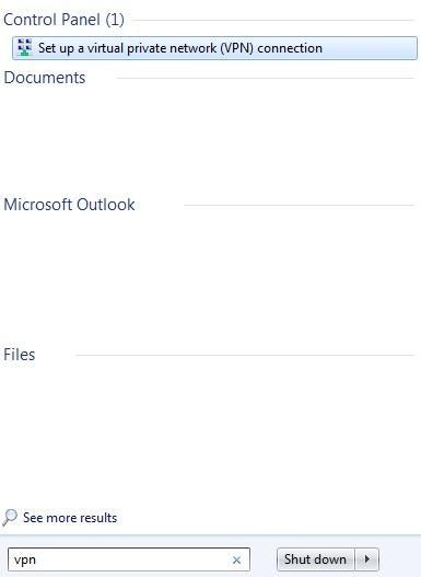 windows 7 search vpn